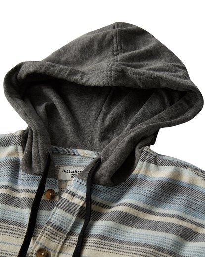 1 Baja Flannel Shirt Grey M521VBBF Billabong