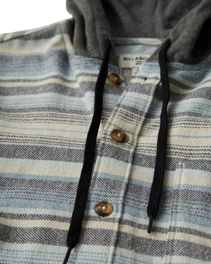 2 Baja Flannel Shirt Grey M521VBBF Billabong