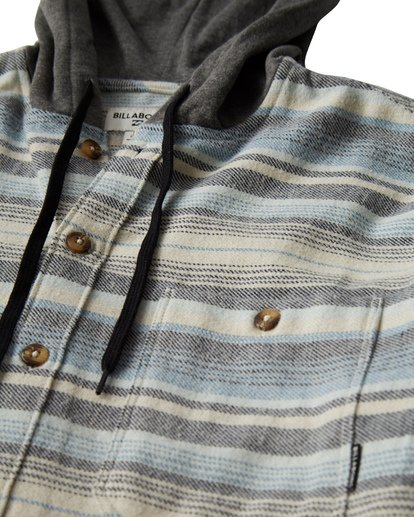 3 Baja Flannel Shirt Grey M521VBBF Billabong