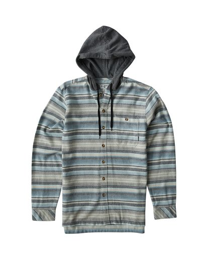 0 Baja Flannel Shirt Grey M521VBBF Billabong