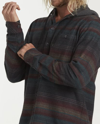4 Baja Flannel Shirt Black M521VBBF Billabong