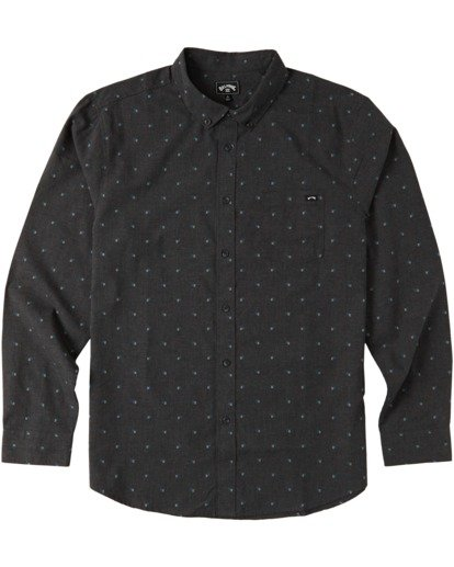 3 All Day Jacquard Long Sleeve Shirt Black M5223BAJ Billabong