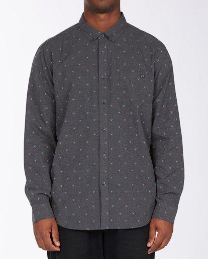 0 All Day Jacquard Long Sleeve Shirt Black M5223BAJ Billabong