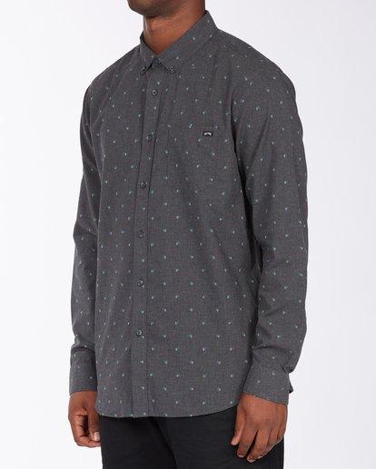 1 All Day Jacquard Long Sleeve Shirt Black M5223BAJ Billabong