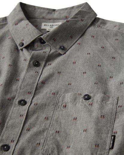 1 All Day Jaquard Long Sleeve Shirt Grey M522VBAJ Billabong