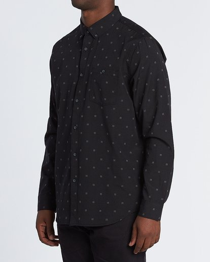 1 All Day Jaquard Long Sleeve Shirt Black M522VBAJ Billabong