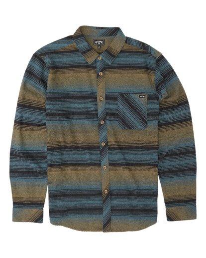 3 Freemont Flannel Shirt Black M5231BFR Billabong