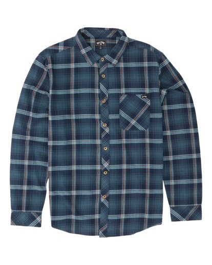 3 Freemont Flannel Shirt Blue M5231BFR Billabong