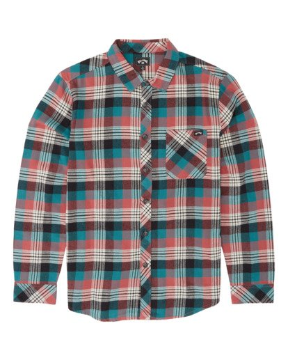 3 Freemont Flannel Shirt Green M5231BFR Billabong