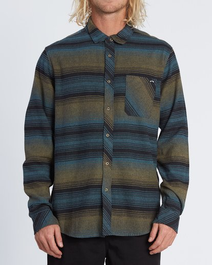 0 Freemont Flannel Shirt Black M5231BFR Billabong