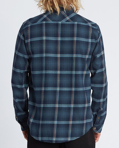 2 Freemont Flannel Shirt Blue M5231BFR Billabong