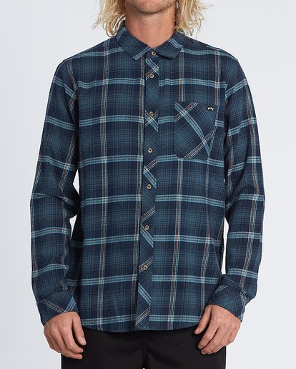 0 Freemont Flannel Shirt Blue M5231BFR Billabong