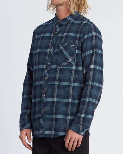 1 Freemont Flannel Shirt Blue M5231BFR Billabong