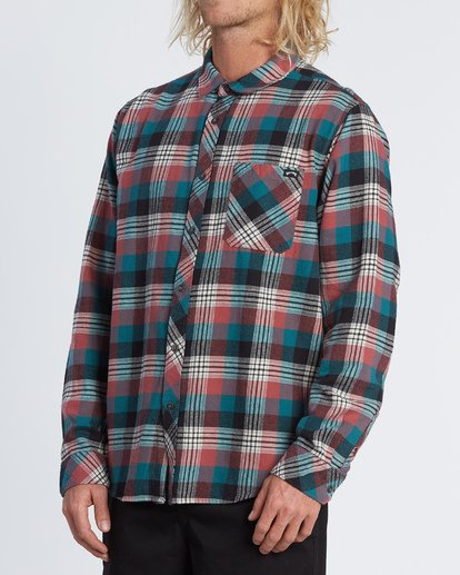 1 Freemont Flannel Shirt Green M5231BFR Billabong