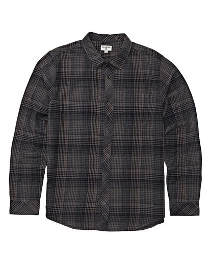 5 Freemont Flannel Shirt Black M523VBFR Billabong