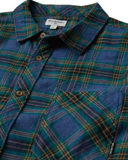 1 Freemont Flannel Shirt Brown M523VBFR Billabong