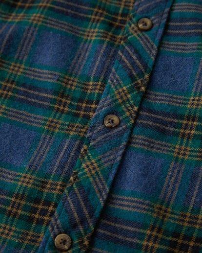 2 Freemont Flannel Shirt Blue M523VBFR Billabong