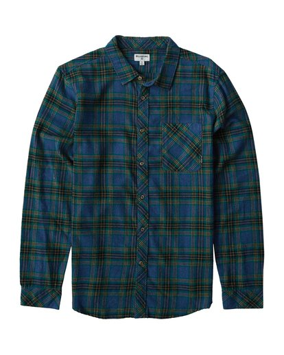 0 Freemont Flannel Shirt Brown M523VBFR Billabong