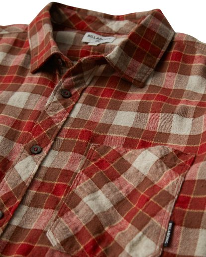 1 Freemont Flannel Shirt Brown M523VBFR Billabong