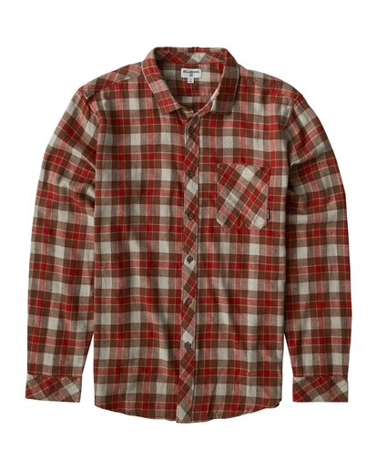 0 Freemont Flannel Shirt Brown M523VBFR Billabong