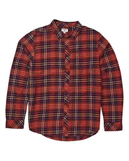 5 Freemont Flannel Shirt Red M523VBFR Billabong