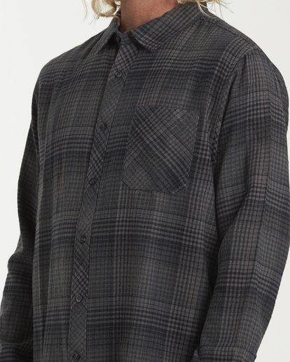 3 Freemont Flannel Shirt Black M523VBFR Billabong