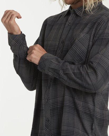 4 Freemont Flannel Shirt Black M523VBFR Billabong