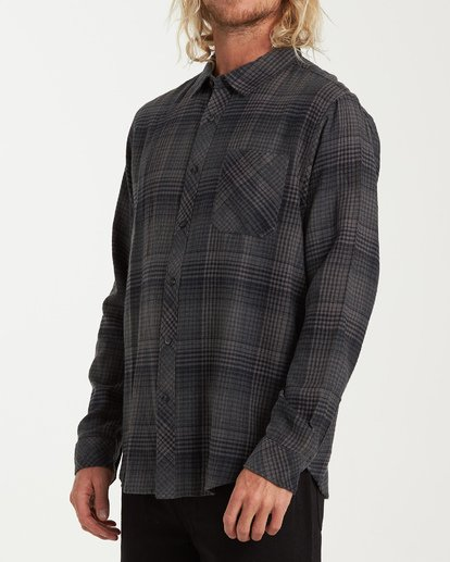 1 Freemont Flannel Shirt Black M523VBFR Billabong