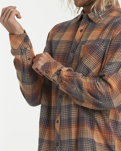 4 Freemont Flannel Shirt Red M523VBFR Billabong