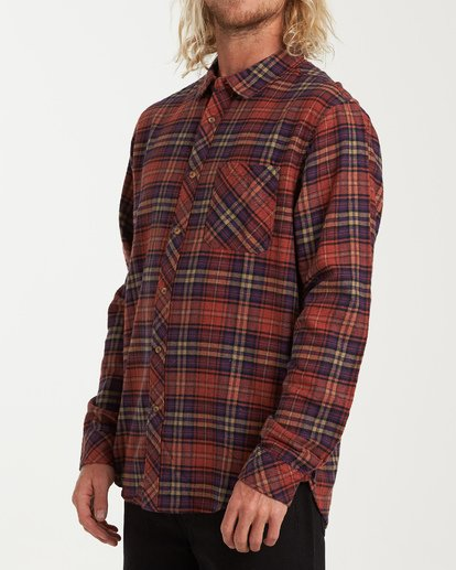1 Freemont Flannel Shirt Red M523VBFR Billabong