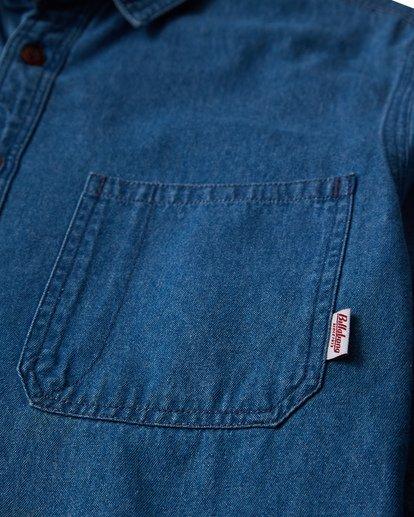 1 97 Workwear Denim Long Sleeve Shirt Blue M530VBWD Billabong