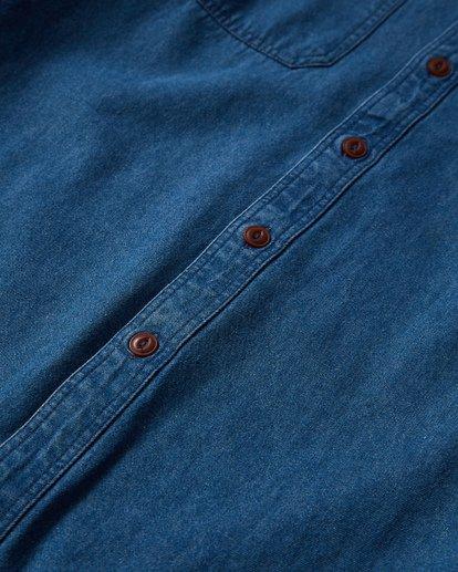 2 97 Workwear Denim Long Sleeve Shirt Blue M530VBWD Billabong