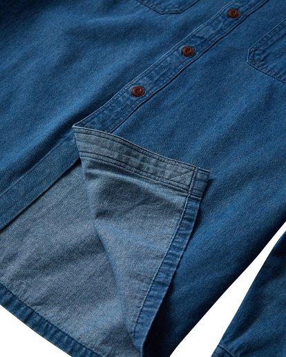 3 97 Workwear Denim Long Sleeve Shirt Blue M530VBWD Billabong