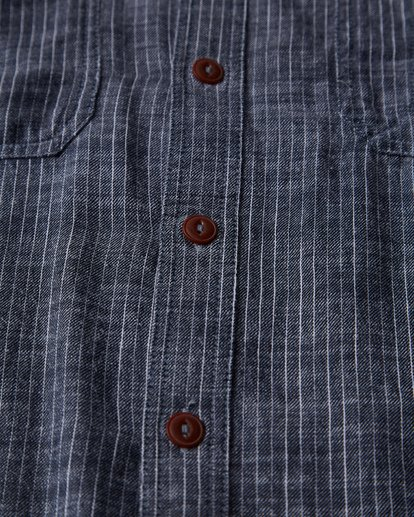 3 97 Workwear Long Sleeve Shirt Blue M531VBWO Billabong