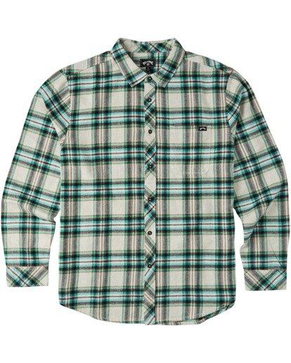 4 Coastline Flannel Shirt Red M5323BCO Billabong