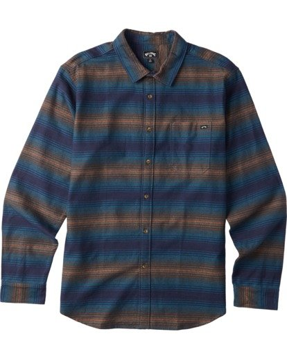 6 Coastline Flannel Shirt Blue M5323BCO Billabong