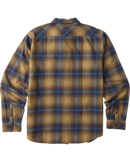 7 Coastline Flannel Shirt Brown M5323BCO Billabong