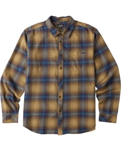 6 Coastline Flannel Shirt Brown M5323BCO Billabong