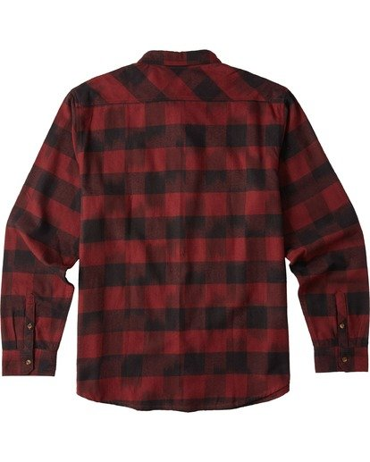 7 Coastline Flannel Shirt Red M5323BCO Billabong