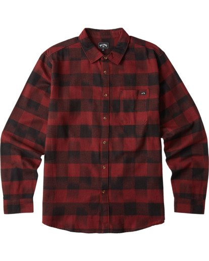 6 Coastline Flannel Shirt Red M5323BCO Billabong