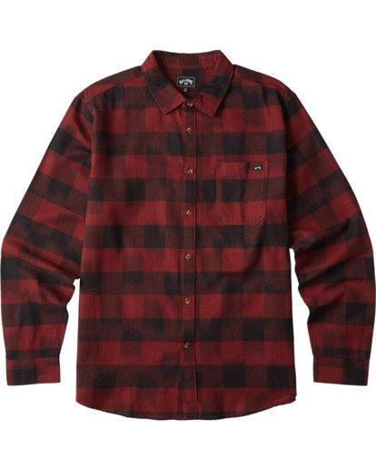 6 Coastline Flannel Shirt Red M5323BCO Billabong