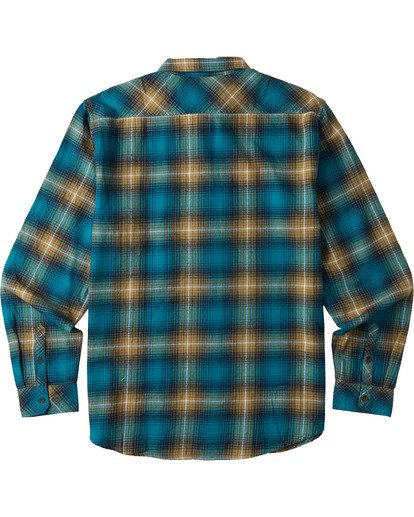 7 Coastline Flannel Shirt Blue M5323BCO Billabong