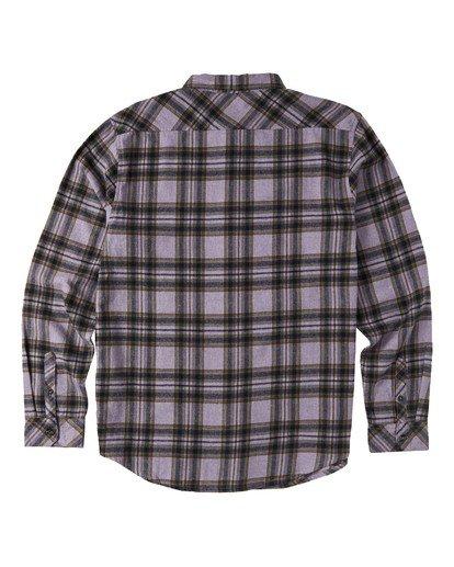 5 Coastline Flannel Shirt Purple M5323BCO Billabong