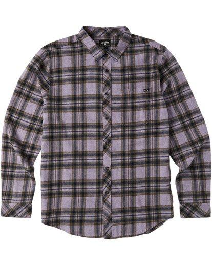 4 Coastline Flannel Shirt Purple M5323BCO Billabong
