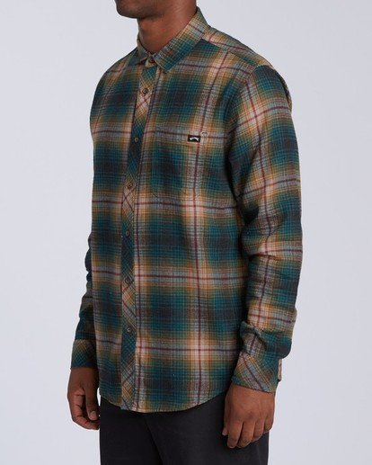 1 Coastline Flannel Shirt Black M5323BCO Billabong