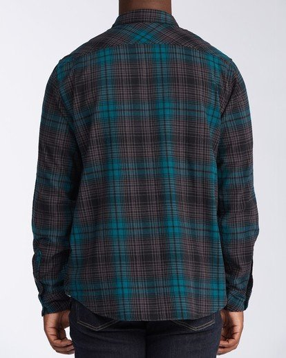 2 Coastline Flannel Shirt Black M5323BCO Billabong