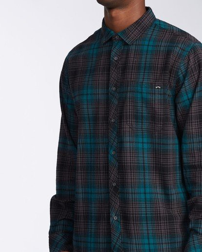 3 Coastline Flannel Shirt Black M5323BCO Billabong