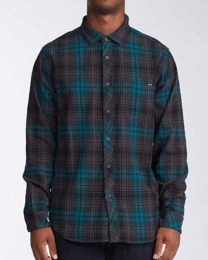 0 Coastline Flannel Shirt Black M5323BCO Billabong