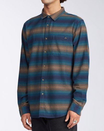 1 Coastline Flannel Shirt Blue M5323BCO Billabong