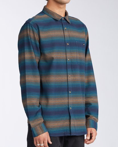 2 Coastline Flannel Shirt Blue M5323BCO Billabong